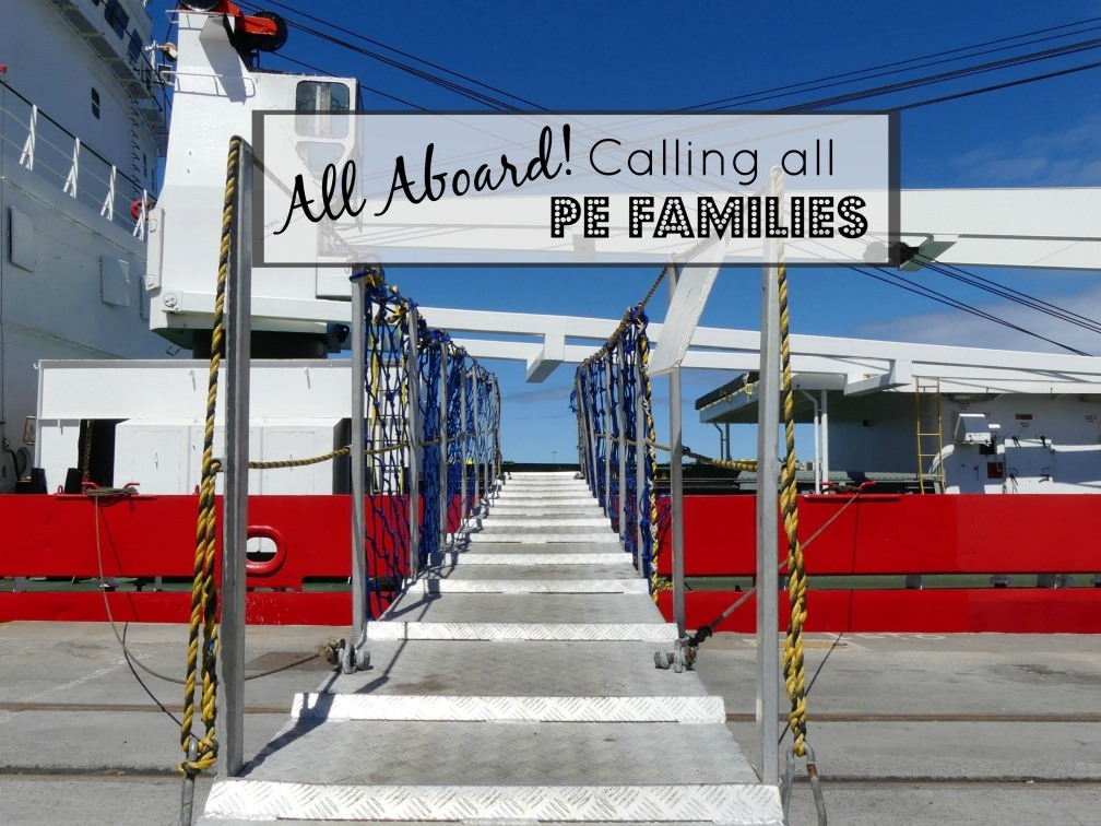 Calling All PE Families – Your Ship Has Come In!